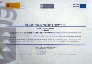 Certificado Espacios Naturales - Frontal