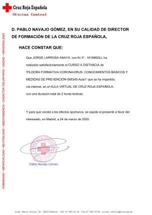 Píldora Formativa Coronavirus